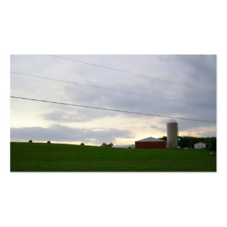 Minnesota farm at dusk hay bales big sky photo business cards