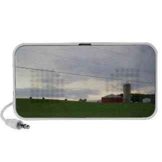 Minnesota farm at dusk hay bales big sky photo mp3 speakers