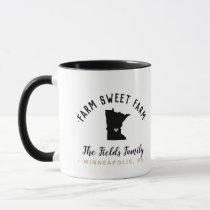 Minnesota Farm Sweet Farm Family Monogram Mug