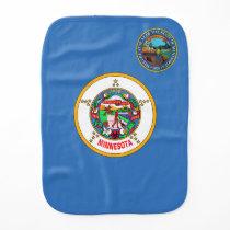 Minnesota flag baby burp cloth