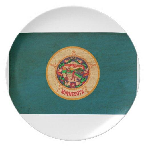 Minnesota Flag Dinner Plates