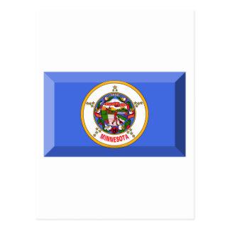 Minnesota Flag Gem Postcard