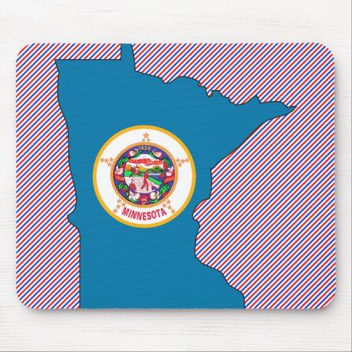 Minnesota Flag Map Mouse Pad