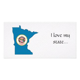 Minnesota Flag Map Photo Cards