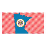Minnesota Flag Map Picture Card