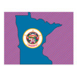 Minnesota Flag Map Postcard