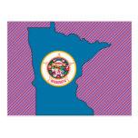 Minnesota Flag Map Postcards