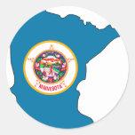 Minnesota Flag Map Stickers