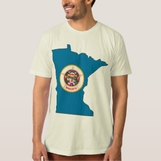 Minnesota Flag Map T-Shirt
