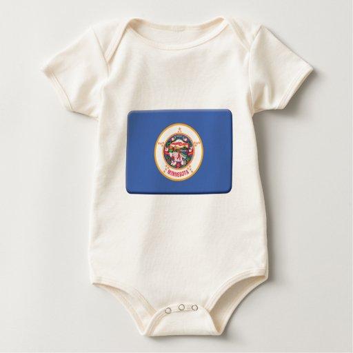 Minnesota Flag PERSONALIZE Baby Creeper
