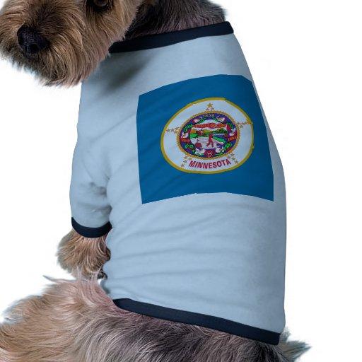 Minnesota Flag Pet Tee Shirt
