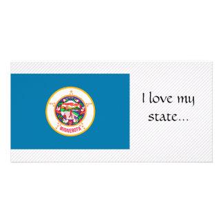 Minnesota Flag Personalized Photo Card