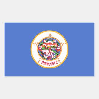 Minnesota Flag Rectangle Stickers