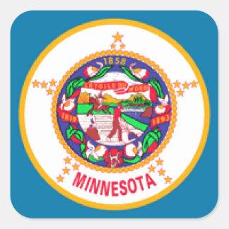 Minnesota Flag Square Sticker