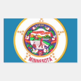 Minnesota Flag Rectangular Sticker