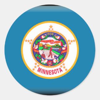 Minnesota Flag Classic Round Sticker