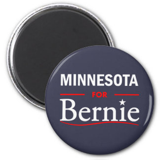 Minnesota for Bernie 2 Inch Round Magnet