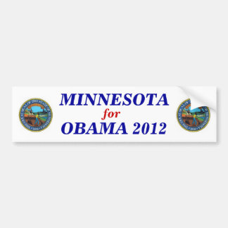 Minnesota for Obama 2012 sticker Car Bumper Sticker