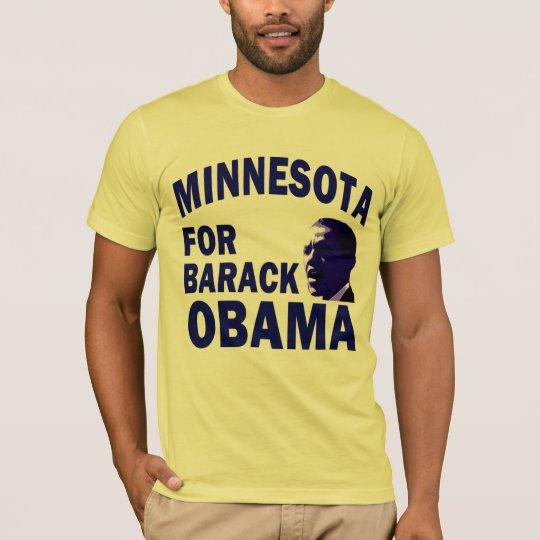 Minnesota for Obama Blue T-Shirt