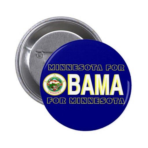 MINNESOTA FOR OBAMA Button