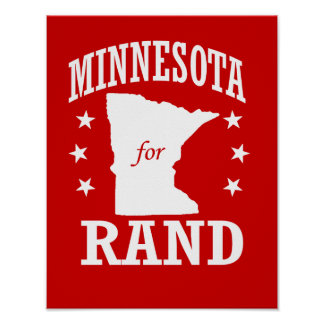 MINNESOTA FOR RAND PAUL POSTER
