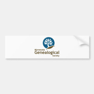 Minnesota Genealogical Society Car Bumper Sticker