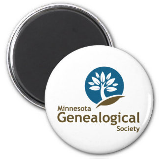 Minnesota Genealogical Society 2 Inch Round Magnet