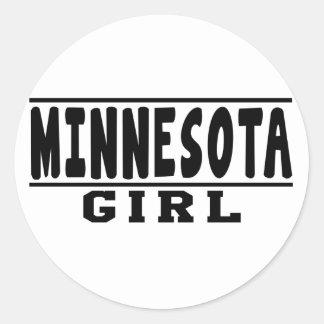 Minnesota girl designs classic round sticker
