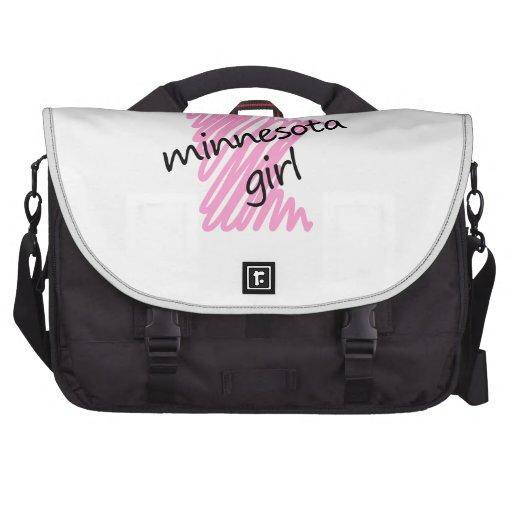 Minnesota Girl with Scribbled Minnesota Map Bag For Laptop
