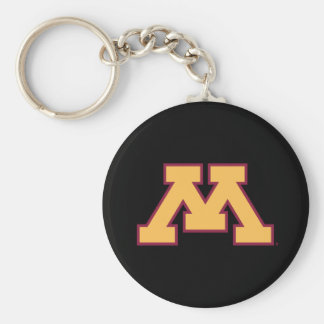 Minnesota Gold M Keychain