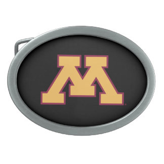 Minnesota Gold M Oval Belt Buckle