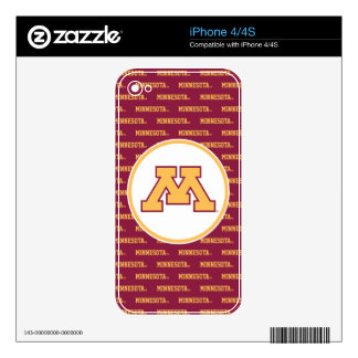 Minnesota Gold M Skin For The iPhone 4