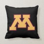 Minnesota Gold M Throw Pillow