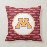 Minnesota Gold M Throw Pillows