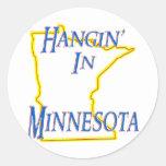 Minnesota - Hangin Etiqueta Redonda