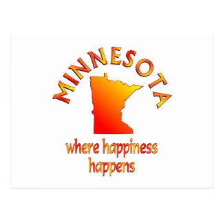MINNESOTA Happiness Post Card