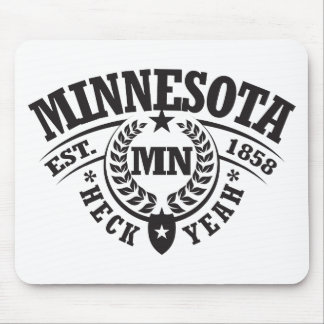 Minnesota, Heck Yeah, Est. 1858 Mouse Pad
