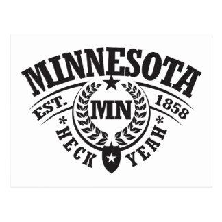 Minnesota, Heck Yeah, Est. 1858 Postcard