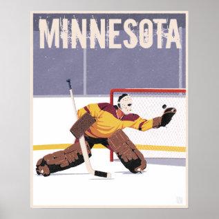 Minnesota Hockey Poster at Zazzle