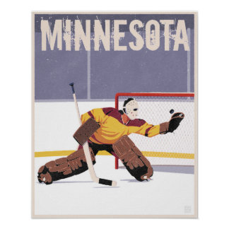 Minnesota hockey poster