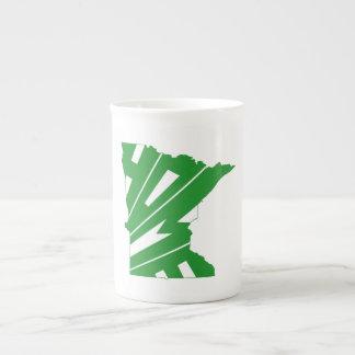 Minnesota home silhouette state map tea cup