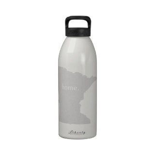 Minnesota home silhouette state map drinking bottles