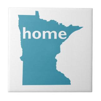 Minnesota Home Small Square Tile