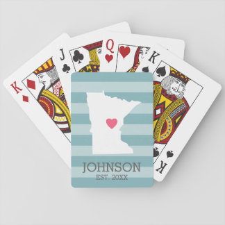 Minnesota Home State City Map - Custom Wedding Playing Cards
