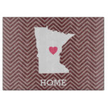 Minnesota Home State Love with Optinal Heart Cutting Board