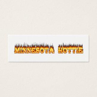Minnesota Hottie fire and flames Mini Business Card