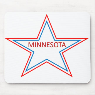 Minnesota in a star. mouse pad