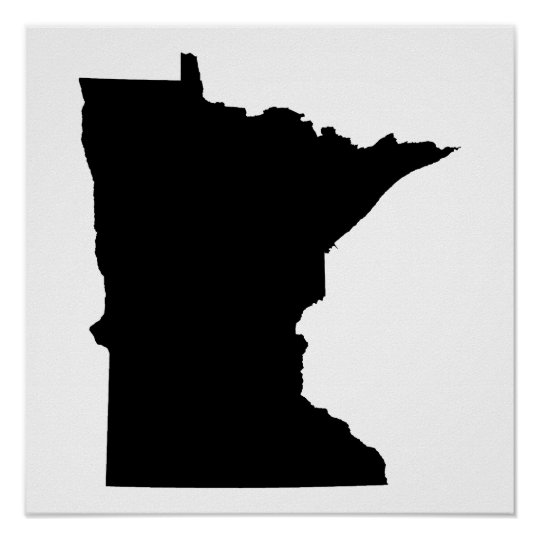 Minnesota in Black and White Poster