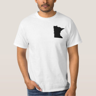 Minnesota in Black and White T-Shirt