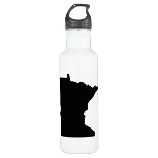 Minnesota in Black and White Water Bottle